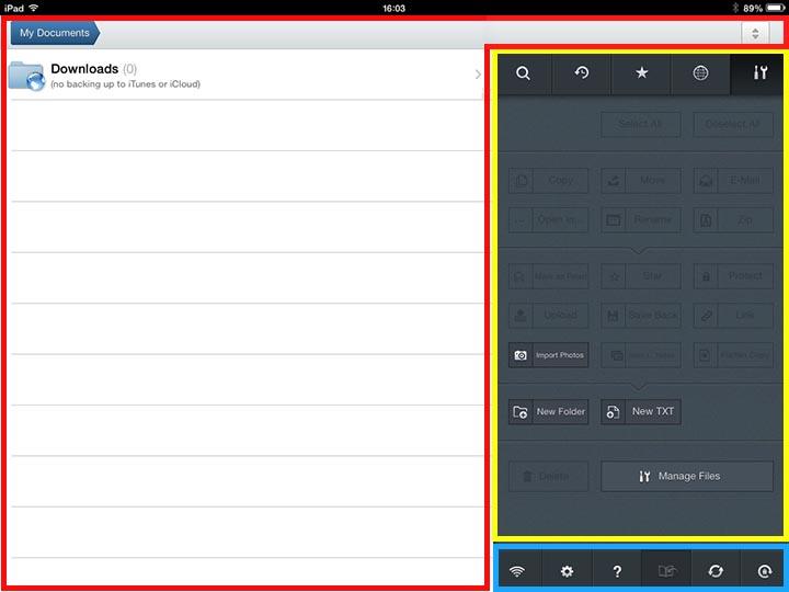 iPadメイン画面