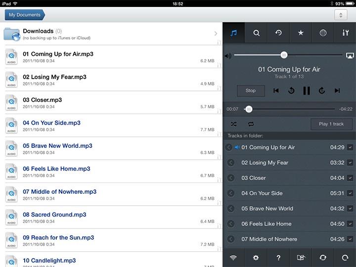 iPad MusicPlayer